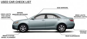 Used car check list for third party inspection in Houston